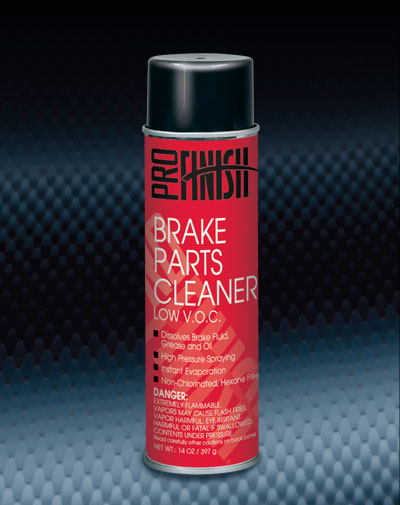 Pro Finish AEROSOL CLEANERS Brake Parts Cleaner Low V.O.C. automotive car wash and detailing supplies