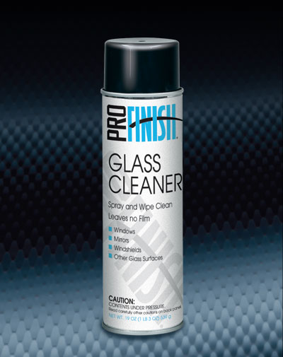 Pro Finish AEROSOL CLEANERS Glass Cleaner Spray and Wipe Clean Leaves no Film automotive car wash and detailing supplies