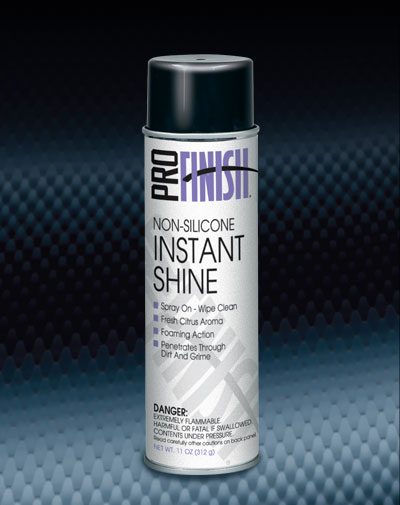 Pro Finish AEROSOL PROTECTANTS Non-Silicone Instant Shine Non-Silicone Dressing automotive car wash and detailing supplies