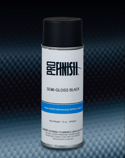 Pro Finish DYE / GLAZE / PAINT Semi-Gloss Black High Performance Spray Paint automotive car wash and detailing supplies