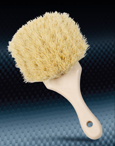 Pro Finish BRUSHES Tampico Wheel Brush Natural Tampico Bristles Made In The USA automotive car wash and detailing supplies