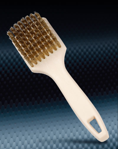 Pro Finish BRUSHES Brass Tire Brush Premium Brass Wire Brush Made In The USA automotive car wash and detailing supplies
