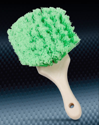Pro Finish BRUSHES Nylon Green Bristle Utility Brush Soft Bristle Made In The USA automotive car wash and detailing supplies
