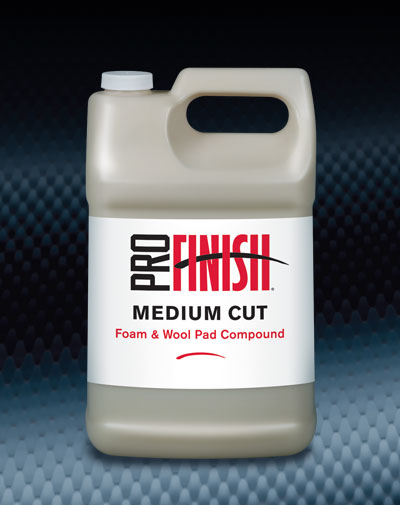 Pro Finish BODY SHOP BUFFING COMPOUNDS Medium Cut Foam & Wool Pad Compound automotive car wash and detailing supplies