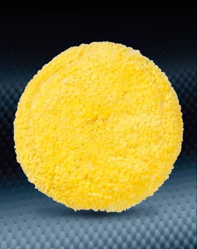 Pro Finish Buffing Pads & Buffers Yellow Wool Buffing Pad Polishing for Buffing Equipment Made In The USA automotive car wash and detailing supplies