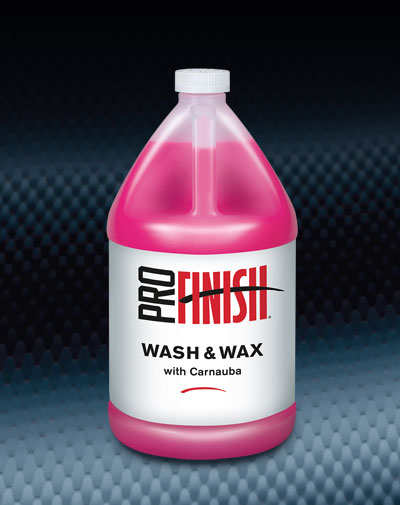 Pro Finish LIQUID SOAPS Wash & Wax with Carnauba automotive car wash and detailing supplies