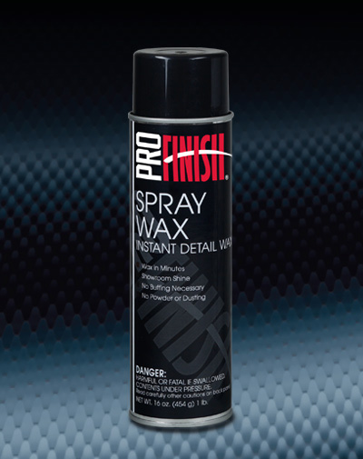 Pro Finish WAXES & SEALANTS Spray Wax Instant Detail Wax automotive car wash and detailing supplies