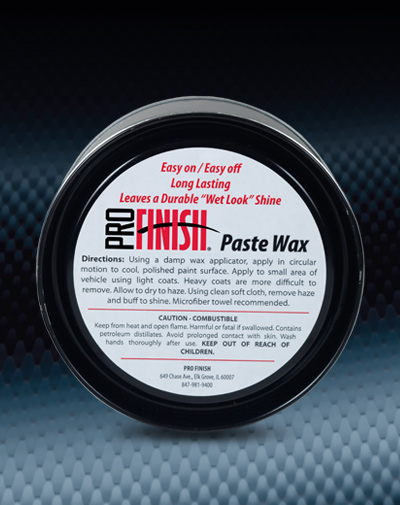 Pro Finish WAXES & SEALANTS Paste Wax Easy On / Easy Off automotive car wash and detailing supplies